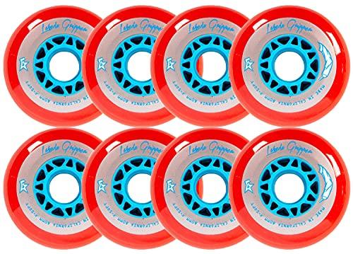 LABEDA HILO GRIPPER Rollen 80 mm/76 mm, rot, X-Soft Inline Indoor Roller Hockey 76A