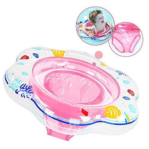 Baby Schwimmring Aufblasbare Schwimmhilfe mit Schwimmsitz aus PVC für Kleinkind 6 Monaten bis 3 Jahren Rosa, Baby Schwimmring Pool Schwimmen Float für Kinder Planschbecken (Pflege Unter Erwachsene)