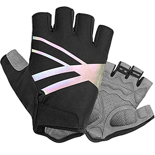 DAZZLIA Fahrradhandschuhe, MTB Handschuhe für Herren und Damen, Fahrrad Handschuhe Freizeit, Sommer Fingerlose Fitness Handschuhe Trainingshandschuhe (L)