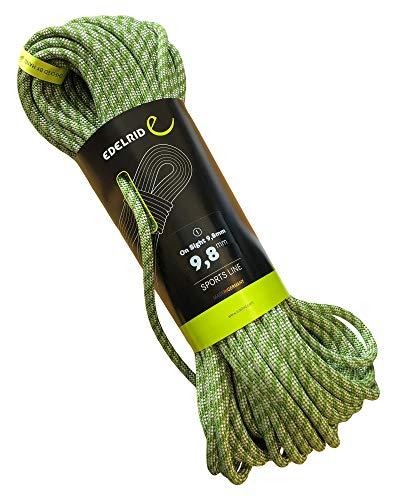 EDELRID Kletterseil On Sight 9,8 mm (dynamisches Einfachseil), Länge:50 Meter, Farbe:Green