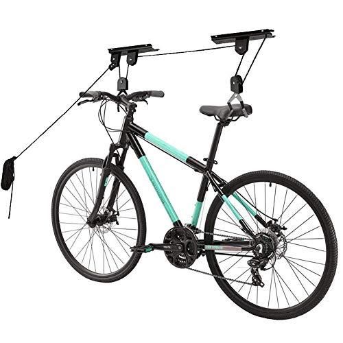 Fahrrad Deckenhalter mit Seilzug, Bike-Lift Fahrradaufbewahrung bis 20kg Fahrradaufhängung Universal einsetzbar für Rennrad, E-Bike, City-Bike, Mountainbike, Kinderfahrrad, Damenrad usw.