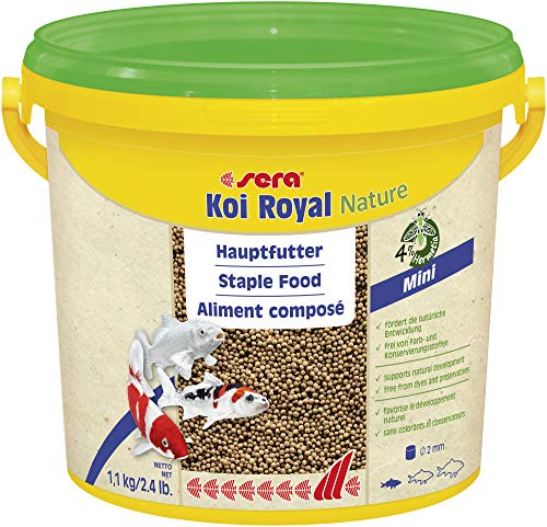 sera KOI ROYAL MINI 3800 ml - Hauptfutter für kleine KOI, hochwertige, schwimmfähige Pellets in 2 mm
