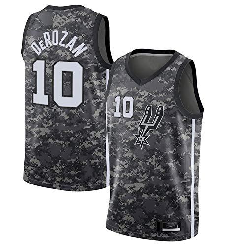 San Antonio Spurs Herren-Basketball Trikot De Mar Rozan Auswärts-Basketball Trikot #10 Colorfast and Shape Retention-Trikot - Schwarz