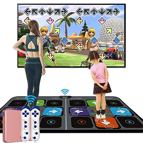 BCLGCF LED3D Laufdecke Yoga Spielmaschine Silikon Massage Lernmaschine, TV AV Videospiel Tanzmatten Pads, HD Qualität, Tanzteppich Doppel Wireless Somatosensorische