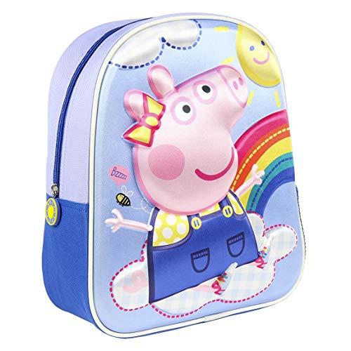 CERDÁ LIFE'S LITTLE MOMENTS - Peppa Wutz 3D Rucksack Kinder   Peppa Wutz Schulrucksack für Kinder, einheitsgröße, rosa