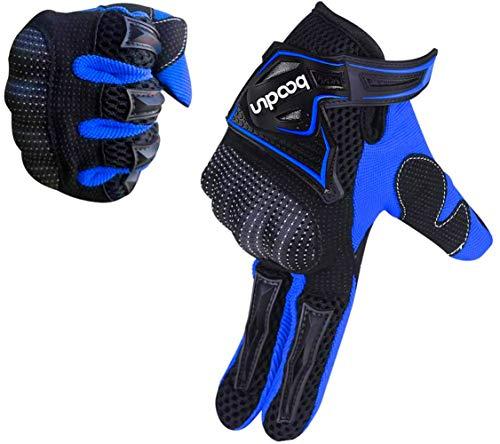 ARTOP Motorrad Handschuh Herren Touchscreen Motorradhandschuhe Sommer Motorcross Cross Handschuhe Männer Alle Jahreszeiten(Blau,M)