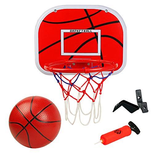 Basketballkorb fürs Zimmer Mini Basketball Kinder Sport Outdoor Indoor Basketballkorb Spielzeug mit Bälle Pump für Kinder Junge Mädchen ab 6 7 8 Jahre alt (MEHRWEG)