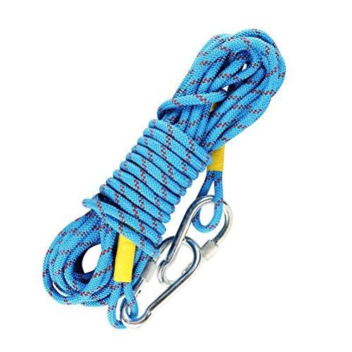 vorcool Outdoor Klettern Seil 2meter Klettern Seil mit 10cm Stahl Haken (zufällige Farbe)