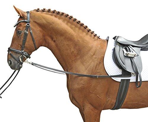 HKM 1873 Ausbinder, Hilfszügel Ausbindezügel Zügel, Rinderleder, Pony