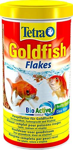 Tetra Goldfish Flakes, Flockenfutter für alle Goldfische und andere Kaltwasserfische, 1 L Dose