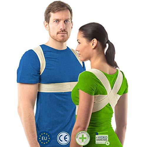 Haltungskorrektur Rücken Damen und Herren von aHeal | Geradehalter für eine gute Körperhaltung | Orthopädischer Geradehalter bei Skoliose und Kyphose | Linderung von Rückenschmerzen | Größe 2 Haut