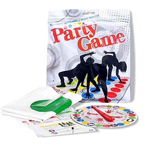 HONGECB Twisting Spiele, Bodenspiel mit Spielmatte, Twisting Game für Kinder & Erwachsene, Teamspiel, Familienspiel, Partyspiel, lustiges Spiel für Kindergeburtstage, 2-4 Personen