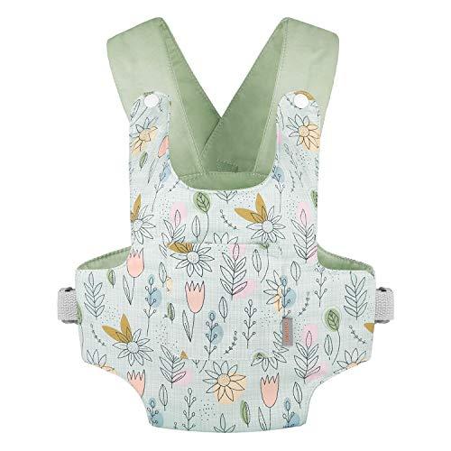 GAGAKU Puppentrage Puppenzubehör Babypuppentrage Kuscheltierträger mit verstellbaren Trägern für Kinder - Grün (Sonnenblume)