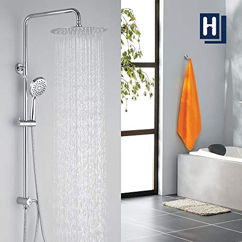 Homelody Duschsystem ohne armatur Duschset Regenduscheset inkl. Umstellung Dusche Duschsäule mit Kopfbrause Handbrause set für bad