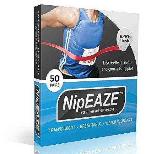 Nipeaze Brustwarzenschutz, Brustschutz für Läufer, durchsichtig, 60 pairs