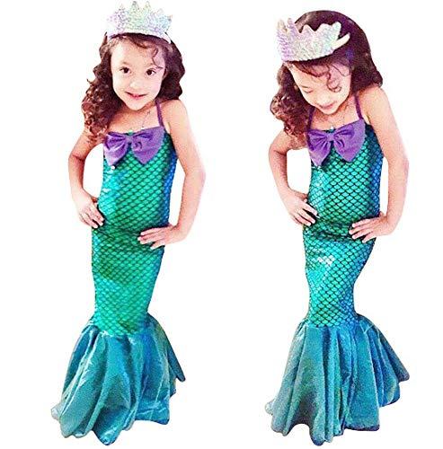 Seawhisper Meerjungfrau Kostüm Mädchen Kleid Halloween Kostüm Kinder 104 110 116 122 128 134 140