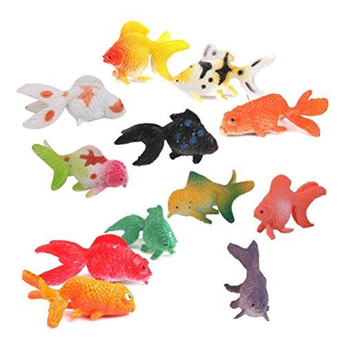 ROSENICE 12 Stück Kunststoff Goldfisch Aquarium Dekoration Künstliche Bunte Fische