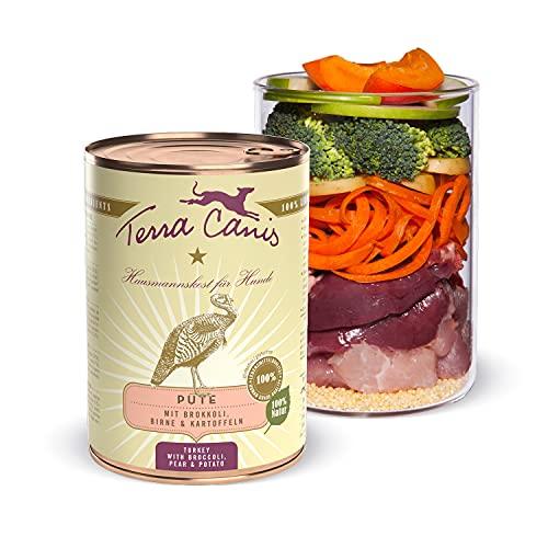 Terra Canis Pute, Brokkoli, Birne & Kartoffel - Classic Nassfutter, 400g I Premium Hundefutter in 100% Lebensmittelqualität Aller Rohstoffe I Reichhaltig & gesund, allergen- & getreidearm, glutenfrei