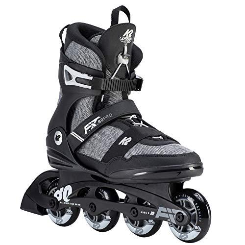 K2 Inline Skates F.I.T. 80 PRO Für Herren Mit K2 Softboot, Black - Grey, 30D0771