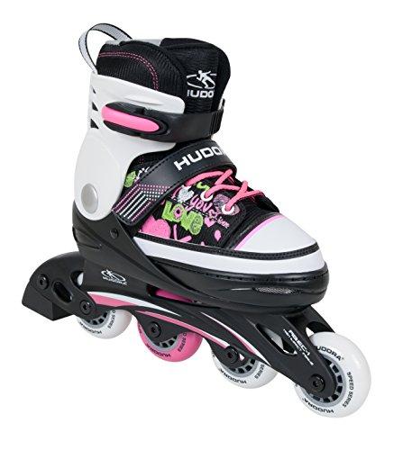 HUDORA Kinder Inline-Skates - Gr. 34 -37 ,pink - Inliner Kinder - 37737