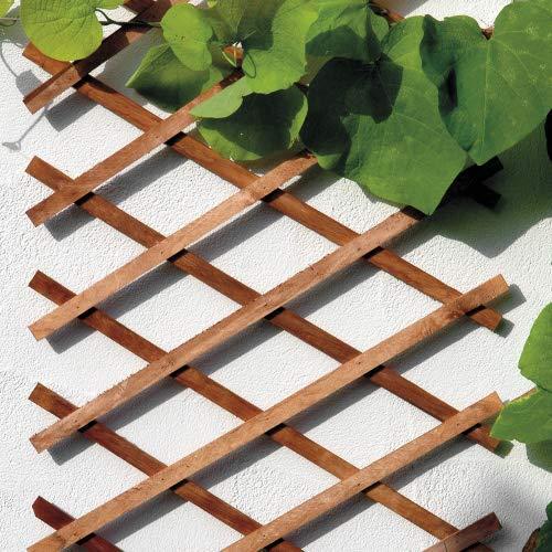 bellissa Scherengitter ausziehbar - Rankgitter Holz-Spalier oder Scherenspalier Rankhilfe im Garten braun 310 cm x 90 cm