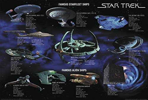 Close Up Star Trek Poster Famous Starfleet Ships Collage (101,5cm x 68,5cm)