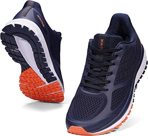 WHITIN Laufschuhe Herren Joggingschuhe Straßenlaufschuhe Turnschuhe Sportschuhe Gym Schuhe Walkingschuhe Fitnessschuhe Leichte Indoor Atmungsaktiv Alltagsschuh Trainers Blau 41 EU