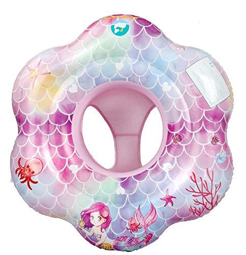 EDWEKIN® Baby Schwimmring, Schwimmhilfe Meerjungfrau, Schwimmsitz Kleinkinder, Baby Float, ab 6 Monate bis 3 Jahre