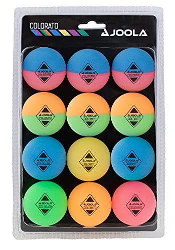 Joola Tischtennis Ballset Colorato mit 12 Bunten Bällen Tischtennisbälle