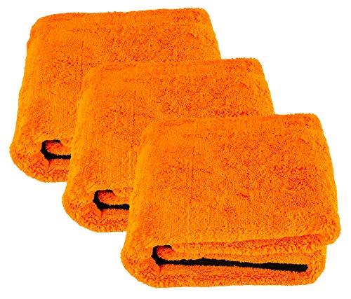 Liquid Elements 3X Orange Baby XL Trockentuch Mikrofasertuch 800 GSM 90 x 60 cm