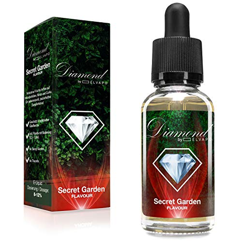 Diamond Aroma für E-Liquids | Secret Garden | 30ml | Aromakonzentrat zum Mischen mit Basen | Für E-Zigaretten und E-Shishas | Ohne Nikotin 0,0mg | Made in Germany! Vape Liquid Aroma