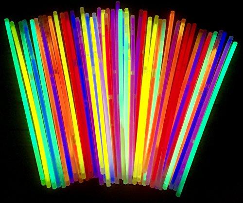 molinoRC   50 Knicklichter   50x Leuchtstäbe   Armreifen   Glowstick   Partylichter   Neon rot gelb grün pink orange blau   Premium Lichter, leuchten ewig   📦   🇩🇪   ✅   😊  🥇   Expressversand