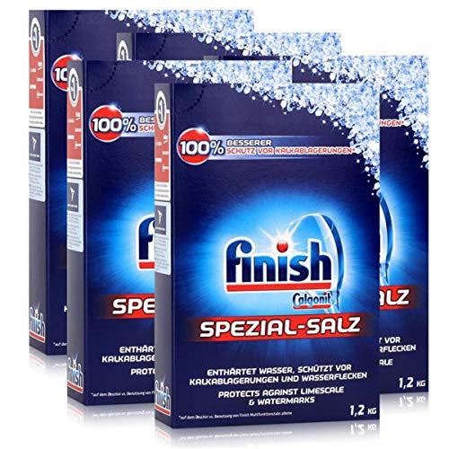 Calgonit Finish Spülmaschinen Spezial-Salz 1,2kg - Enthärtet Wasser (5er Pack)