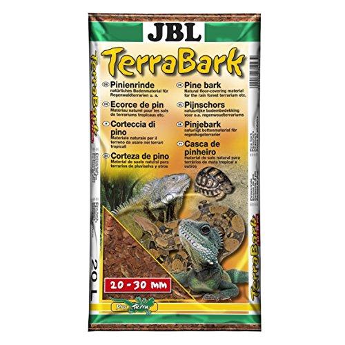 JBL TerraBark 71023 Bodensubstrat, für Wald und Regenwaldterrarien, Pinienrinde, 20 - 30 mm, 20 l