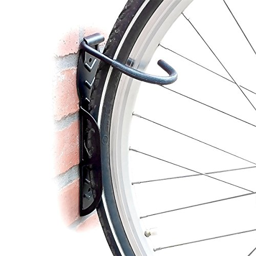 Relaxdays Fahrradhalterung 2er Set, Fahrrad Wandhalterung, Zum Aufhängen, schwarz