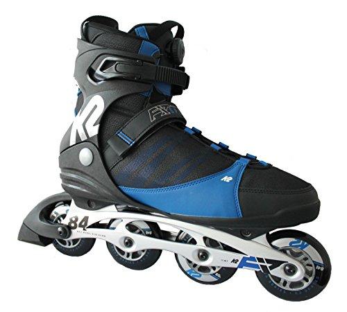 K2 Herren Inline Skate F.I.T. 84 Speeed Inlineskate, Schwarz/Blau, 7