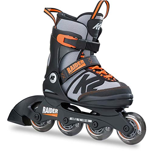 K2 Skates Jungen Inline Skate Raider — black - grey - orange — S (EU: 29-34 / UK: 10-1 / US: 11-2) — 30B0201