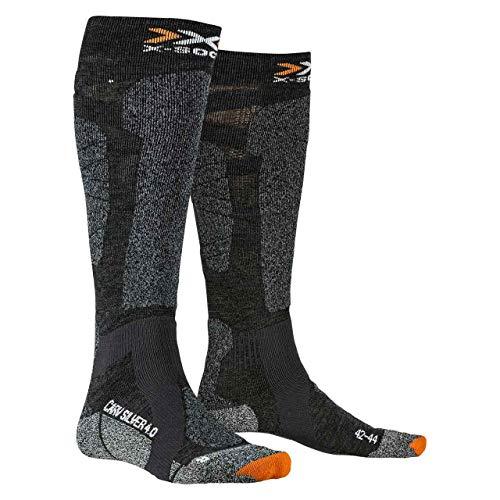 X-Socks Carve Silver 4.0 Socks, Anthracite Melange/B, 42/44