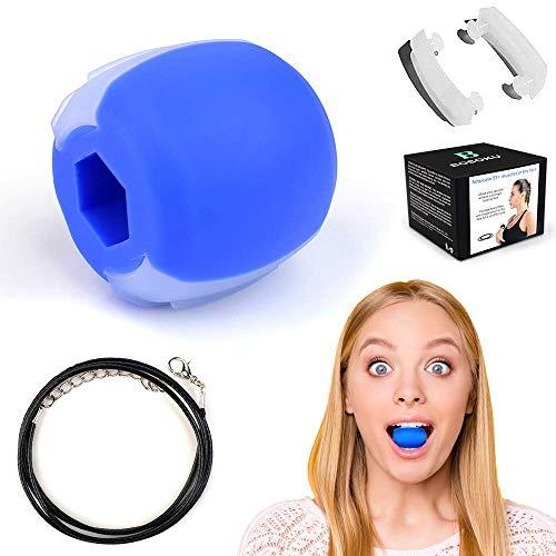 HOOMAGIC Gesichtsstraffer Jawline Trainer Kiefer Training Trainingsgerät für Nacken Gesicht Gerät Zum Kräftigen Und Straffen des Kiefer