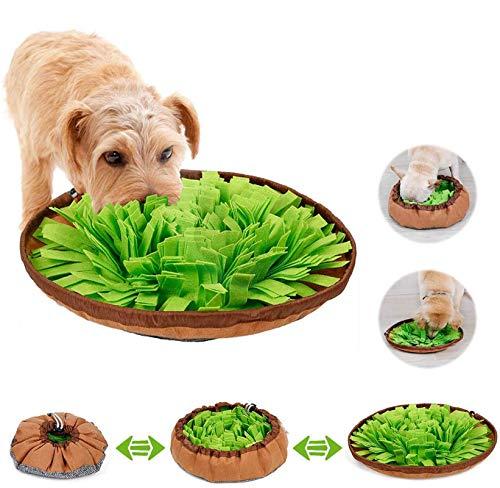 Sunshine smile Hund schnüffelteppich intelligenzspielzeug,Schnüffelrasen Hundespielzeug Fördert Natürliche Nahrungssuche,Hund riechen trainieren,schnüffeldecke