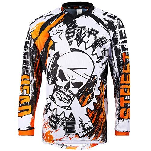 Broken Head MX Jersey Street Rebel Orange - Langarm Funktions-Shirt Für Moto-Cross, BMX, Mountain Bike, Offroad - XXL