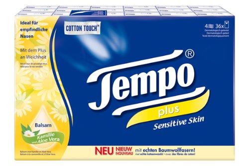 Tempo Taschentücher Plus Sensitive, 36 Päckchen