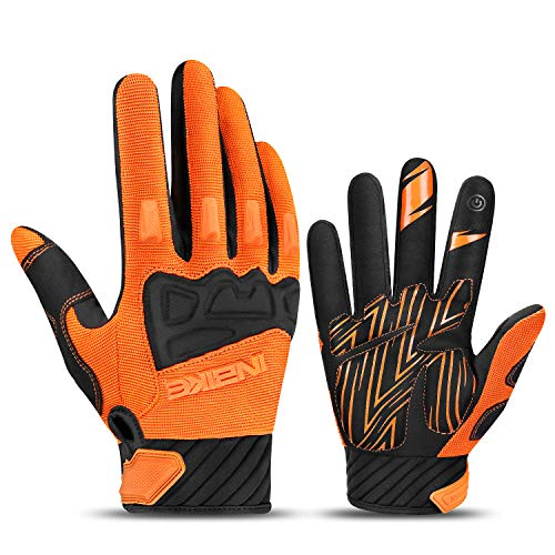 INBIKE MTB Handschuhe Herren Motocross Fahrradhandschuhe Mountainbike Fahrrad Rad Jungen mädchen Orange M