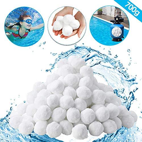 FGDJTYYJ Filter Balls 700g ersetzen 25 kg Filtersand, Filterbälle Pool, Filter Sandfilteranlage, Poolfilter für Kristallklares Wasser, entfernt feinste Schmutzteilchen