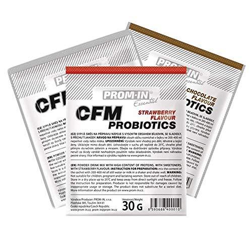 Whey Protein   PROM-IN Essential CFM Probiotics Premium Natives Molkenprotein aufgegossen mit starken Probiotika (Schokolade, 30 g)