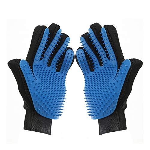 DHMAKER Fellpflege-Handschuh für Haustiere, Effizienter Tierhaarentferner Handschuh