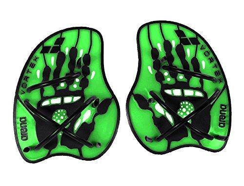 arena Unisex Schwimm Wettkampf Trainingshilfe Hand Paddle Vortex (Ergonomisch, Für Kraft- und Techniktraining), Acid Lime-Black (65), M