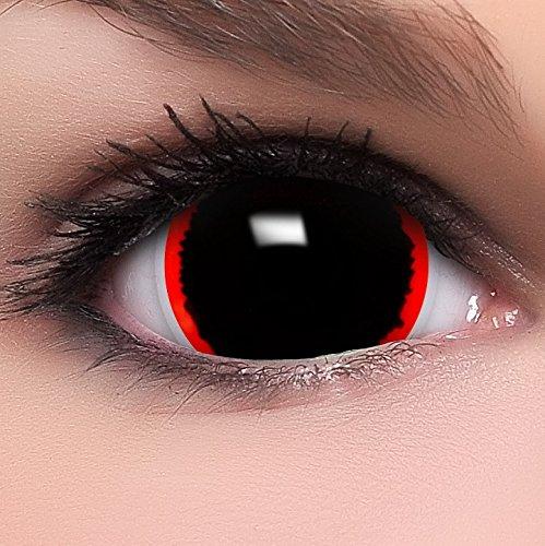 Farbige Mini Sclera Kontaktlinsen Lenses Exorcism inkl. Behälter - Top Linsenfinder Markenqualität, 1Paar (2 Stück)