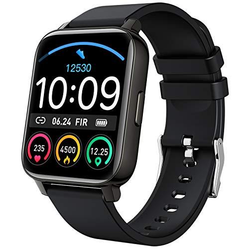 """Smartwatch, Fitnessuhr 1.69"""" Touchscreen Smart Watch Fitness Tracker Schrittzähler Pulsuhr, Armbanduhr Sportuhr Stoppuhr Schlafmonitor, Musik Kamera Controller für Damen Herren Android iOS"""