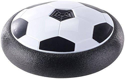 Playtastic Hoover Ball: Schwebender Luftkissen-Indoor-Fußball mit Möbelschutz und Farb-LEDs (Luftkissenball)